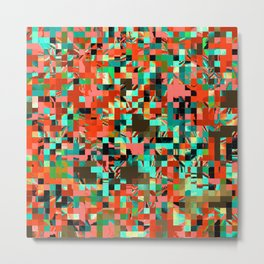 Pixelated 2 Metal Print