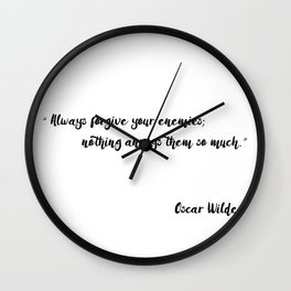 Oscar Wilde - Quotes Wall Clock