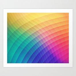 Spectrum Bomb! Fruity Fresh (HDR Rainbow Colorful Experimental Pattern) Art Print