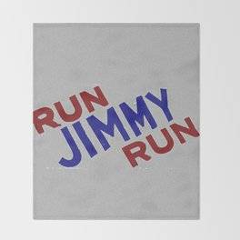 Run Jimmy Run Throw Blanket