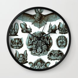 Ernst Haeckel Bats Moonlight Wall Clock