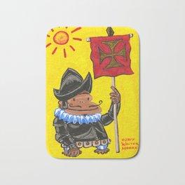 Conquistador Ape on Yellow Bath Mat