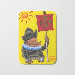Conquistador Ape on Yellow Bath Mat