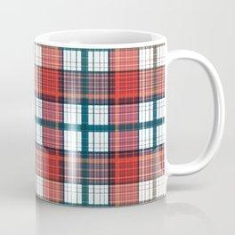 Colorful red grey plaid . Coffee Mug
