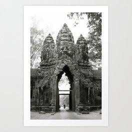 Mysterious buddhist khmer history in Cambodia Art Print