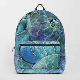 Aqua seashell - mother of pearl - Beautiful backdrop Backpack