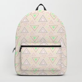 Bubble gum pink summer mornings, pastel colors geometric pattern Backpack