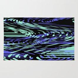 Abstract Mixed Media Series Waves 25 Rug