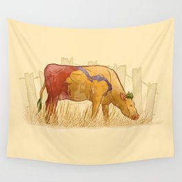 Ode to Heffer Wall Tapestry