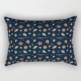 Bird House Fall Woodland Rectangular Pillow