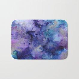 Abstract Watercolor and Ink Bath Mat