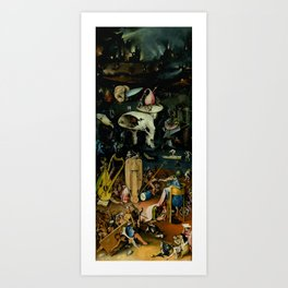 """Hieronymus Bosch """"The Garden of Earthly Delights"""" - Hell Art Print"""
