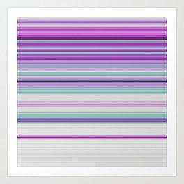 Ultra Violet Aqua Modern Stripes Art Print