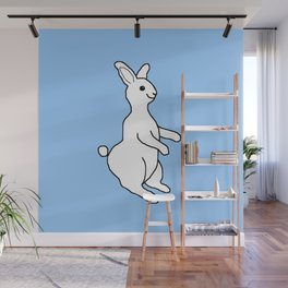 White Rabbit Wall Mural