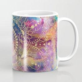 Gold watercolor and nebula mandala Coffee Mug