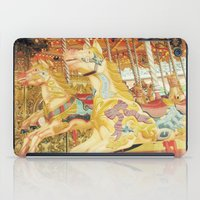 carousel iPad Cases featuring Carousel Horse by WhimsyRomance&Fun