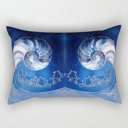 Nautilus Shell 3 by Kathy Morton Stanion Rectangular Pillow