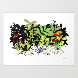 Very Weary Garden Art Print