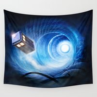 doctor who Wall Tapestries featuring Doctor Who by Joe Roberts