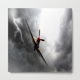 aircraft strom fly Metal Print