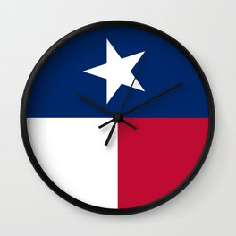 State flag of Texas, official banner orientation Wall Clock