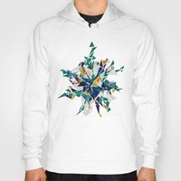 cracked Hoodies featuring Cracked I by AJJ ▲ Angela Jane Johnston