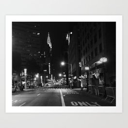 Lexington Ave.  1:15am Art Print
