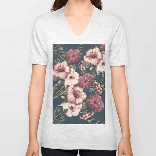 Flower pattern A Unisex V-Neck