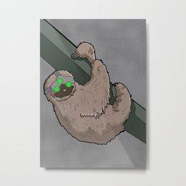 Splinter Sloth Metal Print