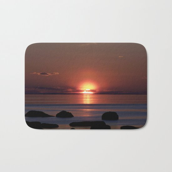 Shock-wave Sunset Bath Mat