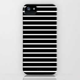 Black and White Horizontal Stripes Pattern iPhone Case