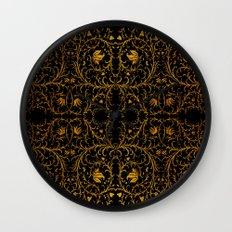 Gold ornament Wall Clock