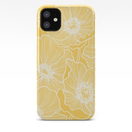 Sunshine Yellow Poppies iPhone Case