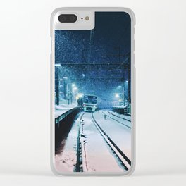 Shimotakaido Station Snow Clear iPhone Case