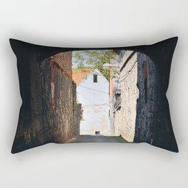 historical pasage with pavement Rectangular Pillow