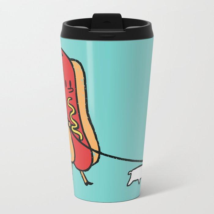 Double Dog Metal Travel Mug