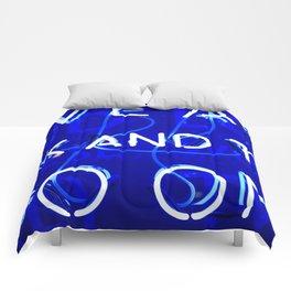 Blue Neon  Comforters