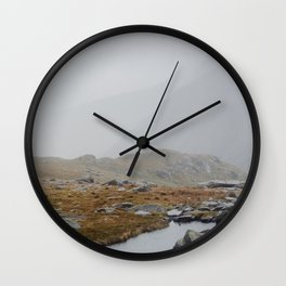 Snowden Mountain River Wall Clock