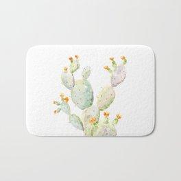 Prickly pear cactus. Opuntia Bath Mat
