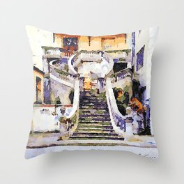 Catanzaro: flight of steps Throw Pillow