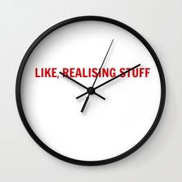 LIKE, REALISING STUFF Wall Clock