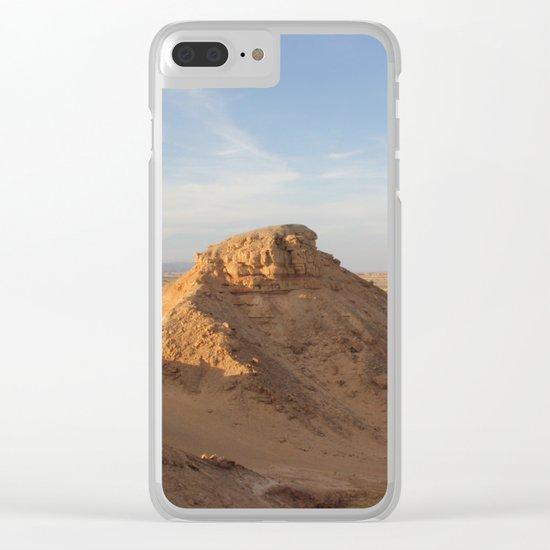 Vertical Desert II Clear iPhone Case