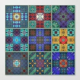 Vintage mosaic talavera ornament Canvas Print