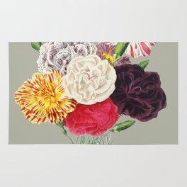 Colorful Flower Bouquet Rug