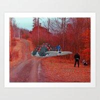 nausicaa Art Prints featuring Nausicaa & the Ohmu (Nausicaa of the valley of the wind) (Burnsville NC) by Jackobi Austin