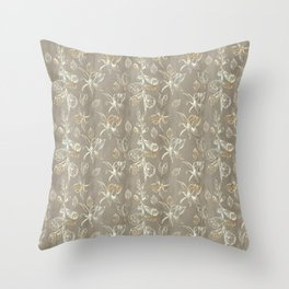 Foxglove Pattern Throw Pillow