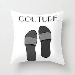 Duct Tape Sandals Throw Pillow