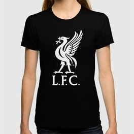Liverpool FC White on Red 2017 Logo T-shirt