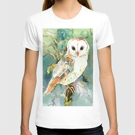 Barn Owl, woodland design owl T-shirt