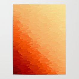 Orange Texture Ombre Poster